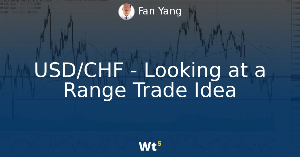 Thumbnail for USD/CHF - Looking at a Range Trade Idea