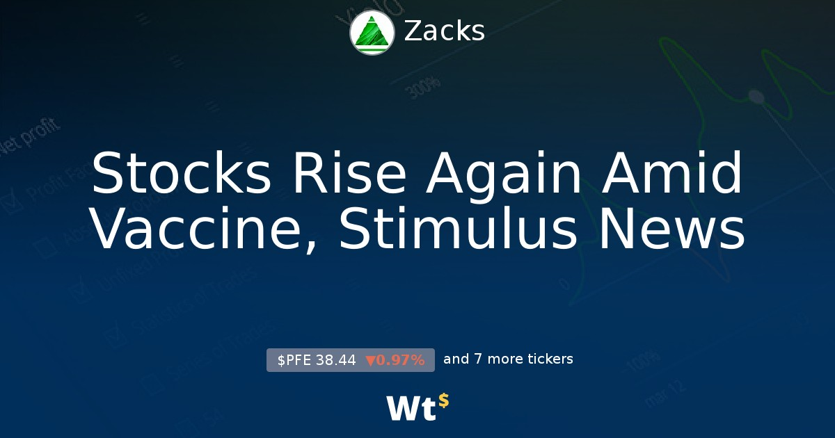 Stocks Rise Again Amid Vaccine Stimulus News